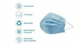 Disposable 3 Ply Non Woven Surgical Face Mask
