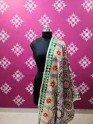 Designer Hand Work Embroidery Phulkari Dupatta