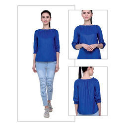 Blue Girls  Cotton Top