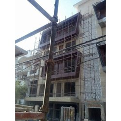 Sky Blue Building ACP Structural Glazing, Thickness: 4mm