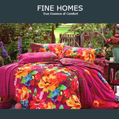 Kids Floral Double Bed Sheet