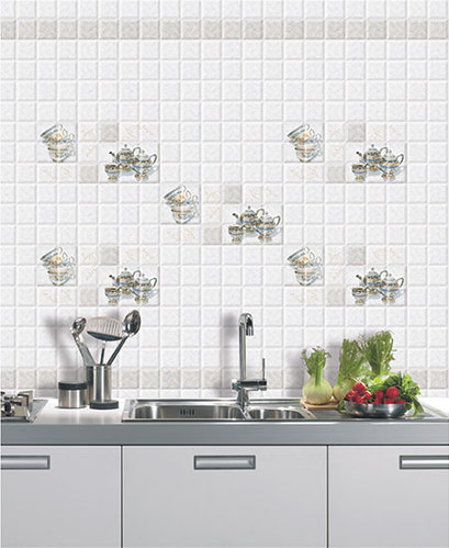 Digital Ceramic 10x15 Kitchen Tiles Thickness 8 10 Mm
