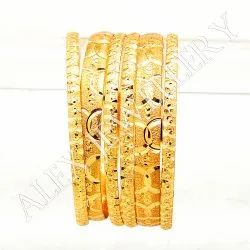 Round Party, Wedding 6 Pieces Gold Forming Plated Bangle