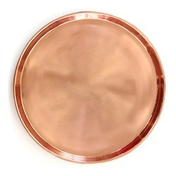 Round Copper Serving Tray NJO-2813