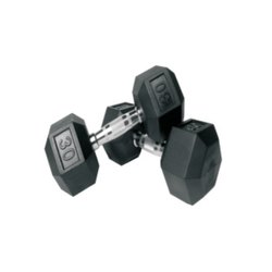 FitKing Fixed Weight Rubber Coated Hexagon Dumbbell