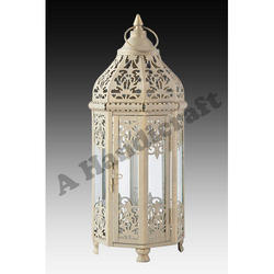 Iron Decorative Lantern, Size: 9x9x20 Cm