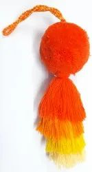 Orange and Yellow Pom Pom Toy