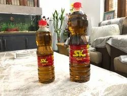 Black Kachchi Ghani Sk Gold Mustard Oil 100% Purity Gaurantee, Packaging Size: 1 litre