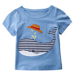 Cotton Casual Wear Kids Printed Round Neck T-Shirt