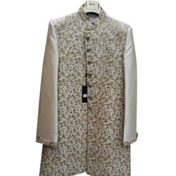 Full Sleeves Colors Ethnic Men Embroidered Sherwani, Packaging Type: Box