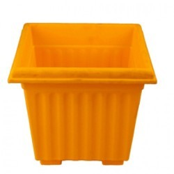 10 Inch Yellow Square Planter