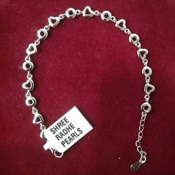 92.5 Percent Casual Wear Ladies Heart Silver Chain