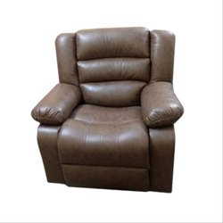Dark Brown Living Room Recliner Sofa for Home, Seating Capacity: 1