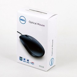 Black Dell MS116 Wired USB Mouse