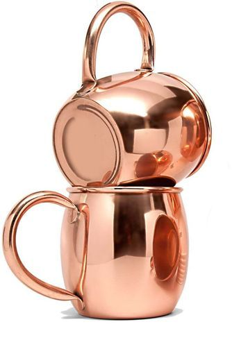 Barrel Shape Moscow Mule Copper Mug With Copper Handle
