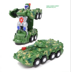 Combat Deformation Armored Car Tank To Robot Transform Toy