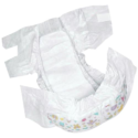 Protected White Disposable Baby Diaper
