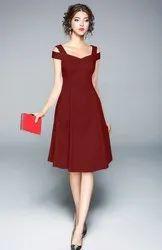Plain Casual Wear Designer Western Dress