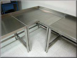 SS L Shape Table