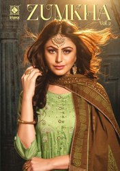 Fancy Chanderi Floor Length Festive Wear Kurti with Dupatta