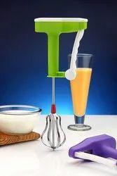 Floraware Milk Lassi Maker Hand Press Blender Mixer Egg Beater Lassi Butter Handle Coffee Milk Egg B