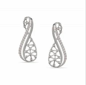 Wind Platinum Earring
