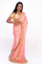 Angosree Curved Design Border Saree