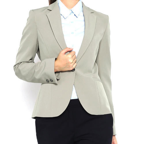 Gray College Women Formal Blazers d6e937984a