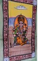 Hand Painted Indian Lord Ganesha Holy Tapestry Wall Hanging