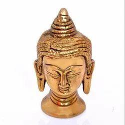 Copper Buddha Head Statue