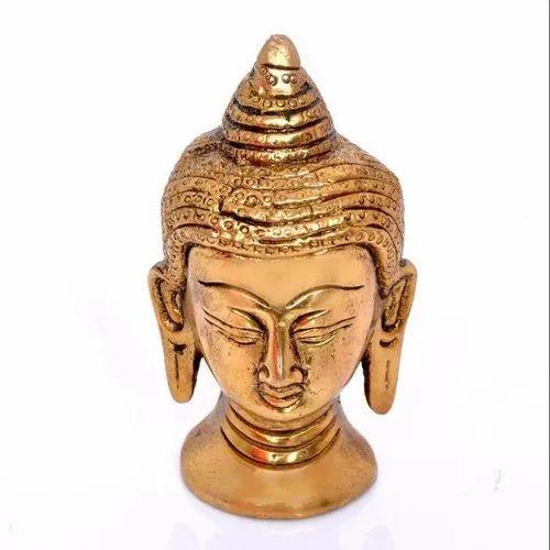 GPAS Copper Buddha Head Statue