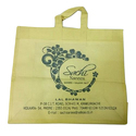 Yellow Pp Non Woven Printed Carry Bag