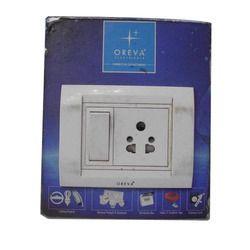 White Oreva Modular Switch, 220 V