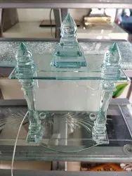 10.8 MM Transparent Dome Mandir