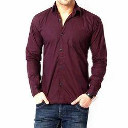 Full Sleeves Casual Wear Mens Plain Shirt, Size: Medium
