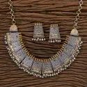 Indo Western Two Tone Plated Trendy Necklace 101120