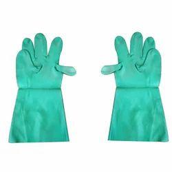 Unisex Green Safety Gloves