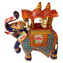 Multicolor Meena Ambabadi Elephant, For Exterior Decor