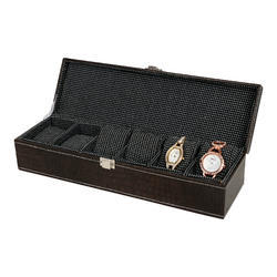 06 Dark Brown Textured Watch Box