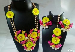 Artificial flowers jewellery for haladi