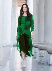 Ladies Green Georgette Kurti