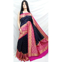 Black Pink Maheshmati Silk Saree
