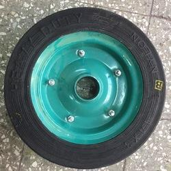 14x3 Solid Tyre with Plate Heavy Duty Nylon