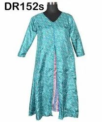 Vintage Recycled Saris Women's Long A-Line Dress DR152s