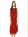 D-04 Red Moonlight Western Dress