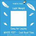 Cool Roof Terrace Tile White Feet