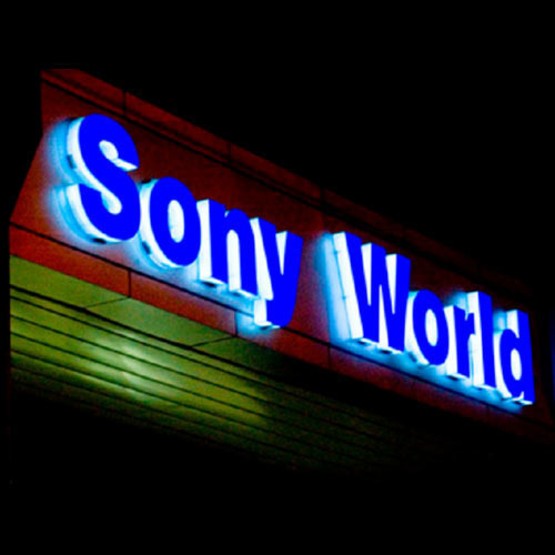 Led Sony World Sign Board