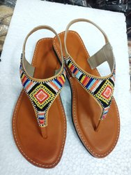 Embroidered Ethnic Kolhapuri Sandals