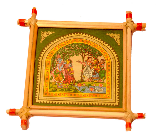 Frame With Glass And Wooden Material Pattachitra Painting, Rs 300 /piece |  ID: 17007832248