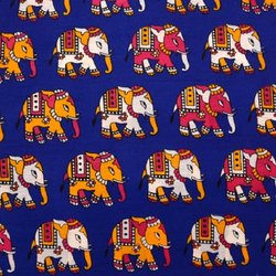 Elephant Print Rayon Fabric